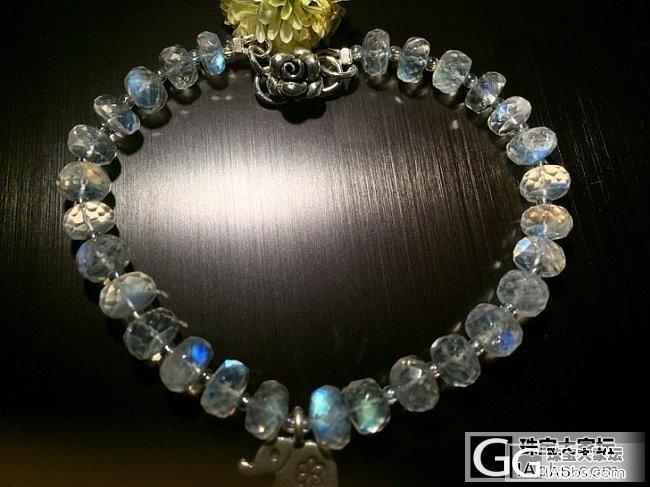 最爱蓝光荡漾的感觉~DIY 月光石_珠串月光石