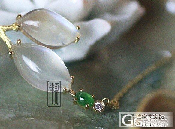 刚做好的翡翠月光石项链,傲娇的秀一下_镶嵌翡翠设计月光石