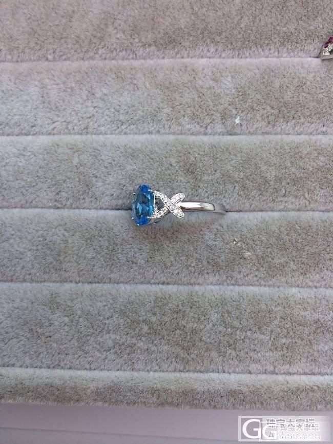 美美的托帕石戒指镶嵌完成