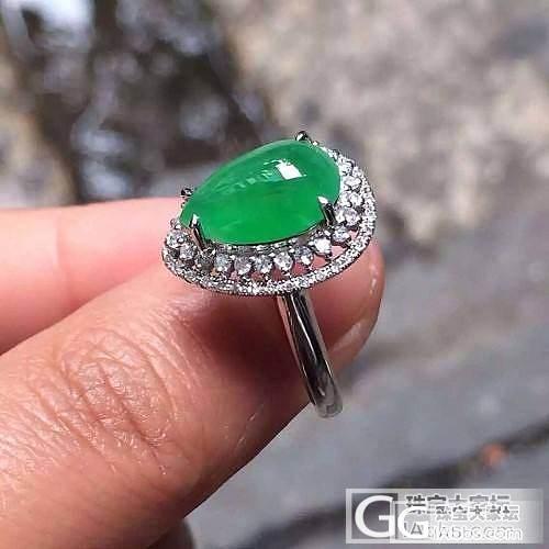 精美阳绿戒指 种水俱佳 饱满干净_珠宝
