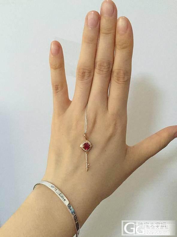新人第一次发帖,新入的红宝石吊坠_红宝石
