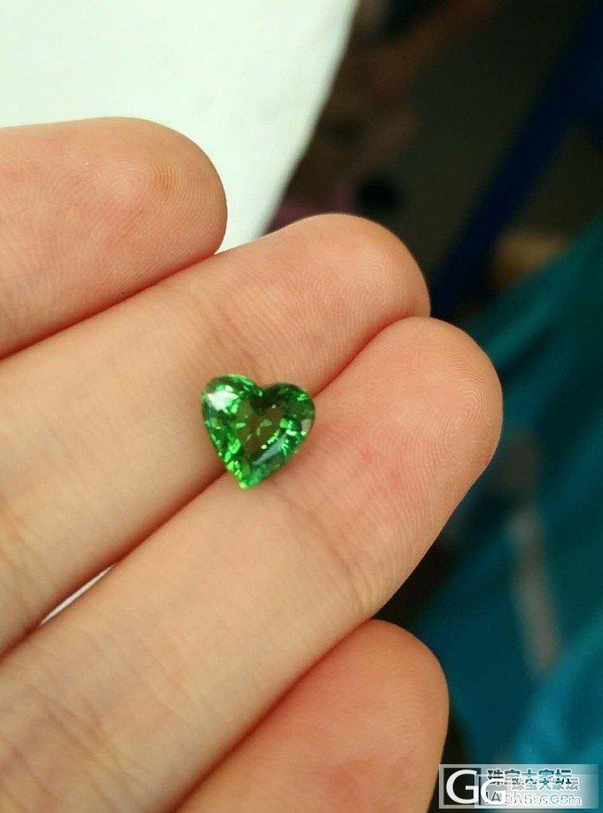 小小绿心 镶嵌好了_碧玺刻面宝石