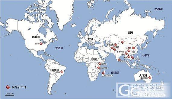 世界主要尖晶石产地分布地图_宝石