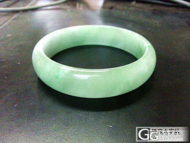 关贴!完美满绿部分起胶57口翡翠手镯..._珠宝