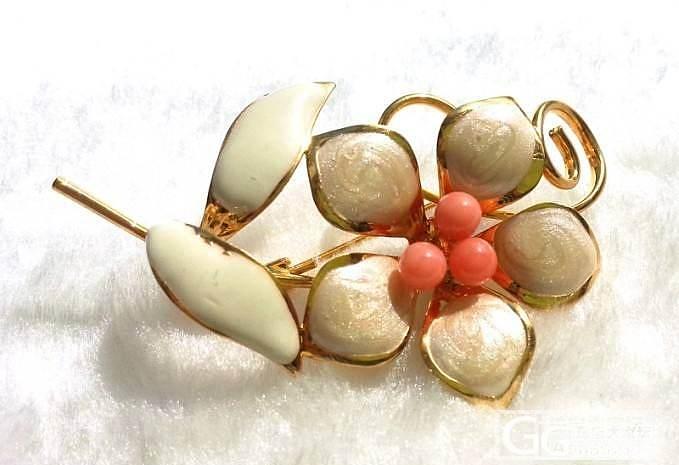 【忘忧草】非常白菜的几个珊瑚胸针,还有特价珊瑚戒面!_有机宝石