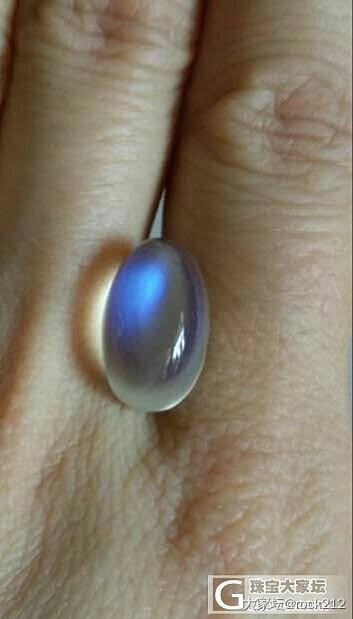 【小白求教】介种月光石是奶油的还是玻..._月光石刻面宝石