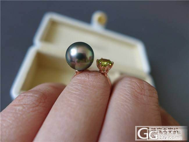 三千世界---孔雀绿大溪地海水珍珠、碧玺戒指_三千世界