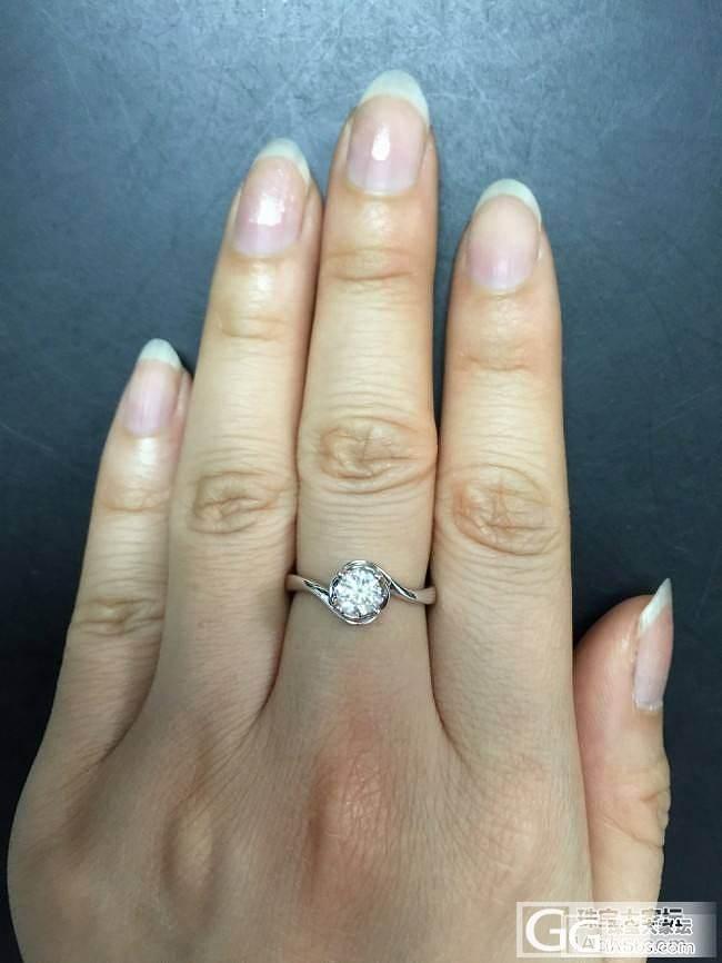 我的宝贝钻戒到手了,裸钻价10500..._钻石