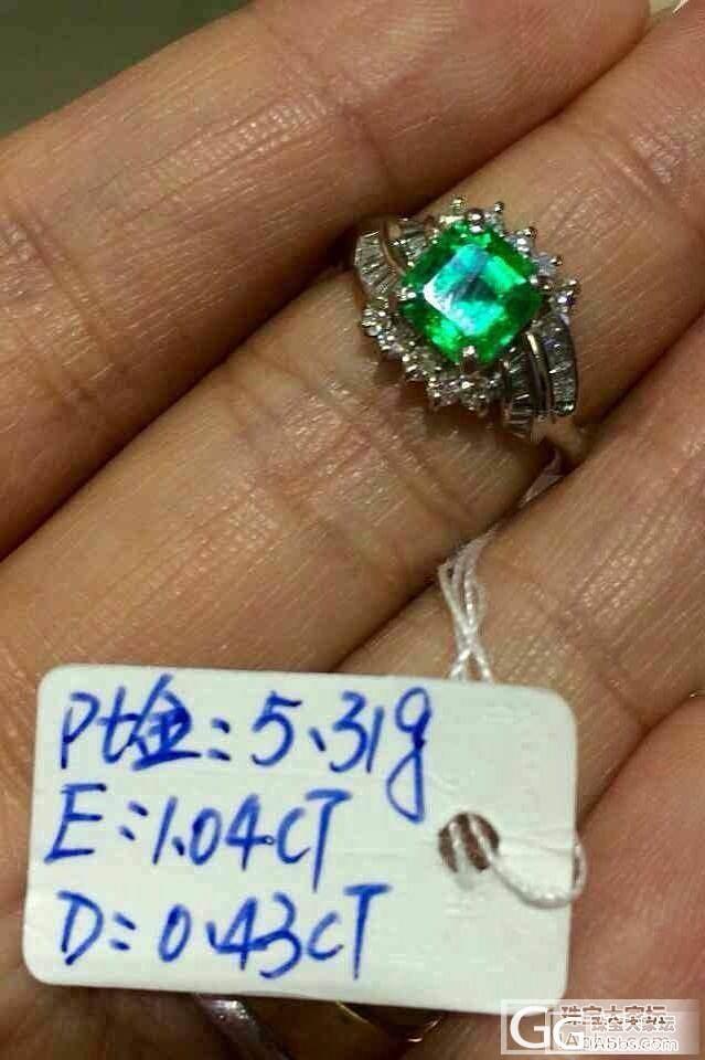 祖母绿戒指一枚,能帮忙估下价格吗?_名贵宝石