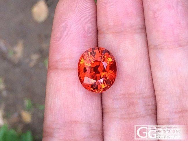 收到一颗12克拉多的芬达,大伙评价下_石榴石刻面宝石