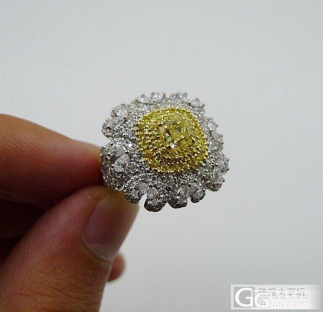 美丽黄钻穿新衣~~要的就是豪~~_戒指彩钻