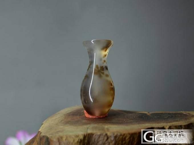 【水草玛瑙花瓶】天然水草花纹 小骆驼..._传统玉石