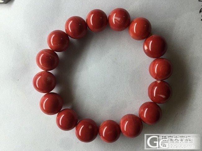 【红珊瑚】Momo圆珠手串 特号色 完美无虫眼少白 喜欢加我_有机宝石