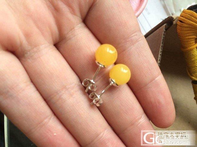自磨蜜蜡珠子 想要配珠的亲看看哦+一楼加了想转的一条保山南红 看中的短我吧_有机宝石