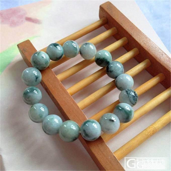 自己以前收的一些珠子编的一些手链_珠串翡翠