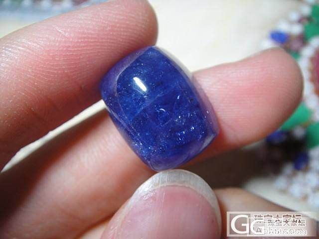 收藏级21克拉素面坦桑石裸石,颜色好..._宝石