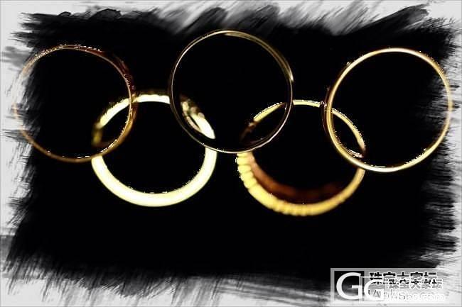 奥运五环戒指立面图_戒指金