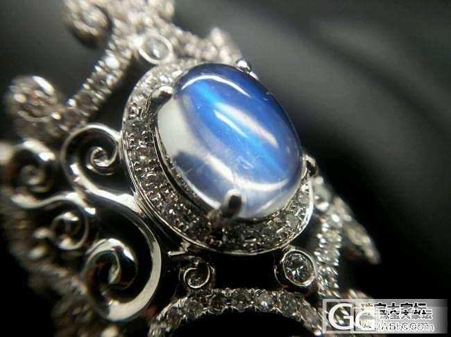 蓝色月光石戒指_月光石