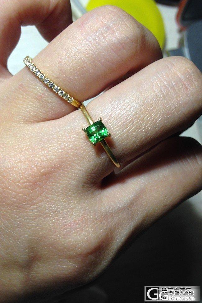 小沙沙戒指一枚,超级简洁款,酱油便宜_沙弗莱刻面宝石