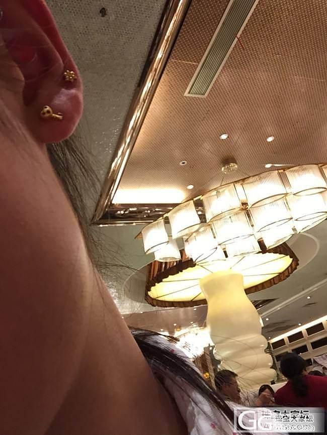 新入的耳钉。都很迷你_耳钉金