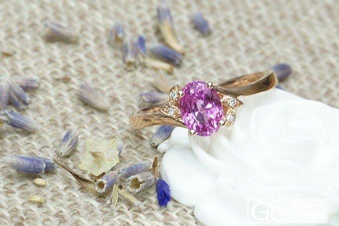 【山水彩宝】粉蓝宝镶钻戒指_宝石