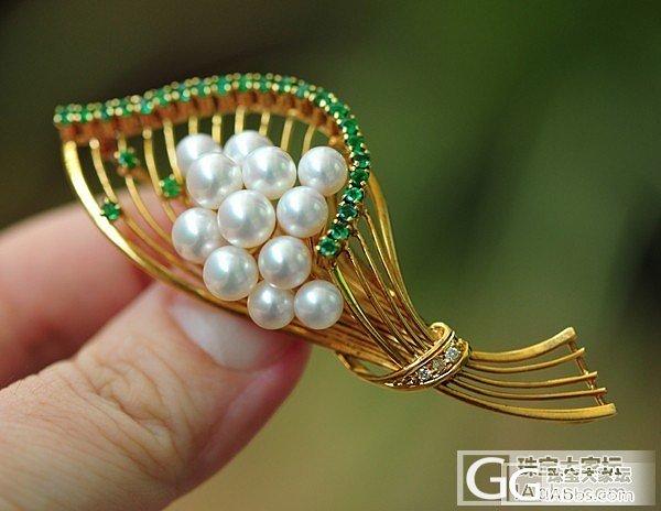 一枚花束型珍珠胸针~_胸饰珍珠