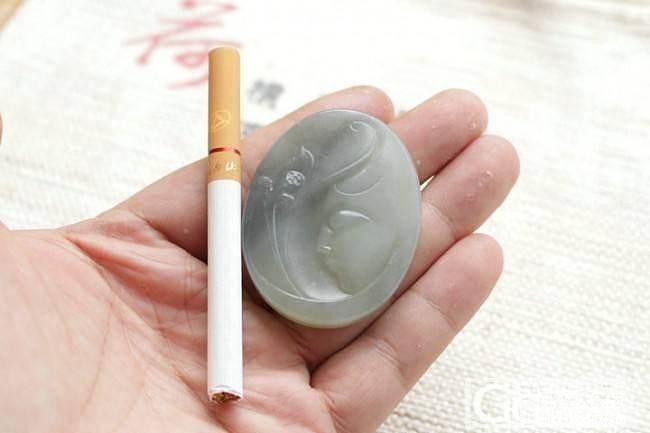【荣毅】5月6日上新:新疆青花籽料双面雕工观音_传统玉石