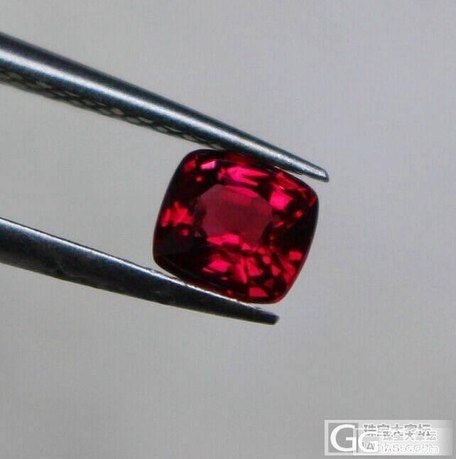 夏日送清凉  一颗正红缅甸尖晶石_宝石