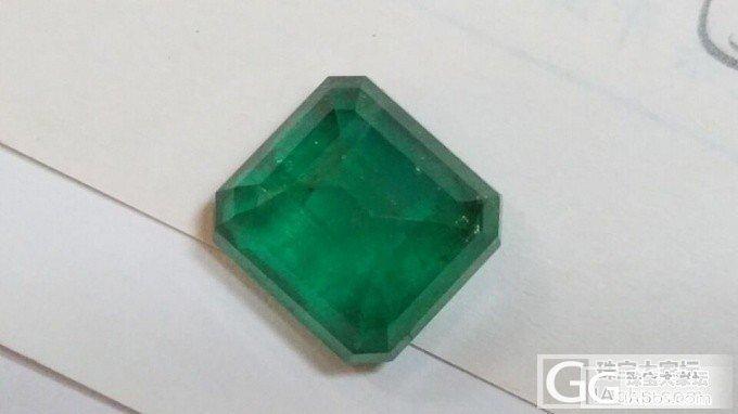 新人第一次入祖母绿,请大家帮忙看看_祖母绿刻面宝石