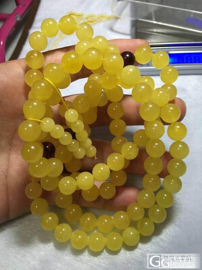 新密满密鸡油黄9.7mm的108佛珠..._有机宝石