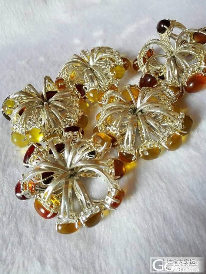 一批琥珀戒指,低价卖18176352..._有机宝石