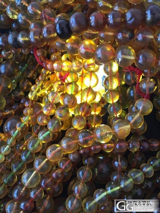 批发金棕珀珠子 0,.4MM-1.4..._有机宝石
