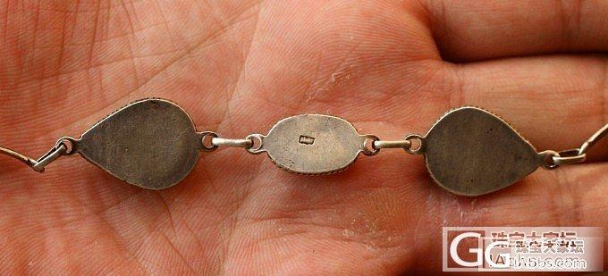 纪念一下我的手链,_手排松石南红老银