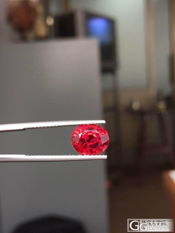 缅甸精品尖晶,十倍放大镜下干干净净,..._缅甸尖晶石刻面宝石