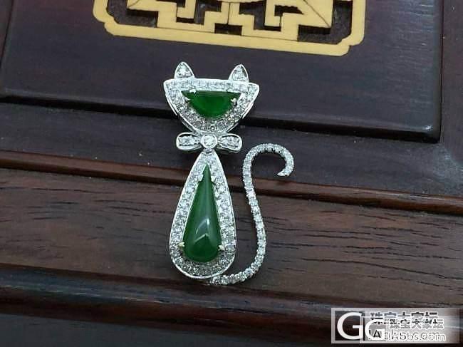 可爱的小猫吊坠_镶嵌珠宝