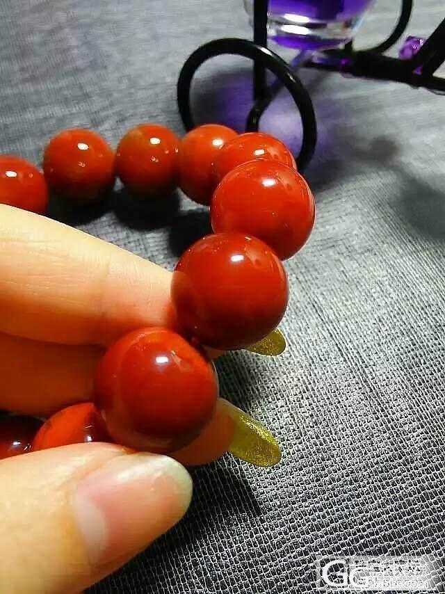 精品【九口南红】15.5MM圆珠,满..._玛瑙