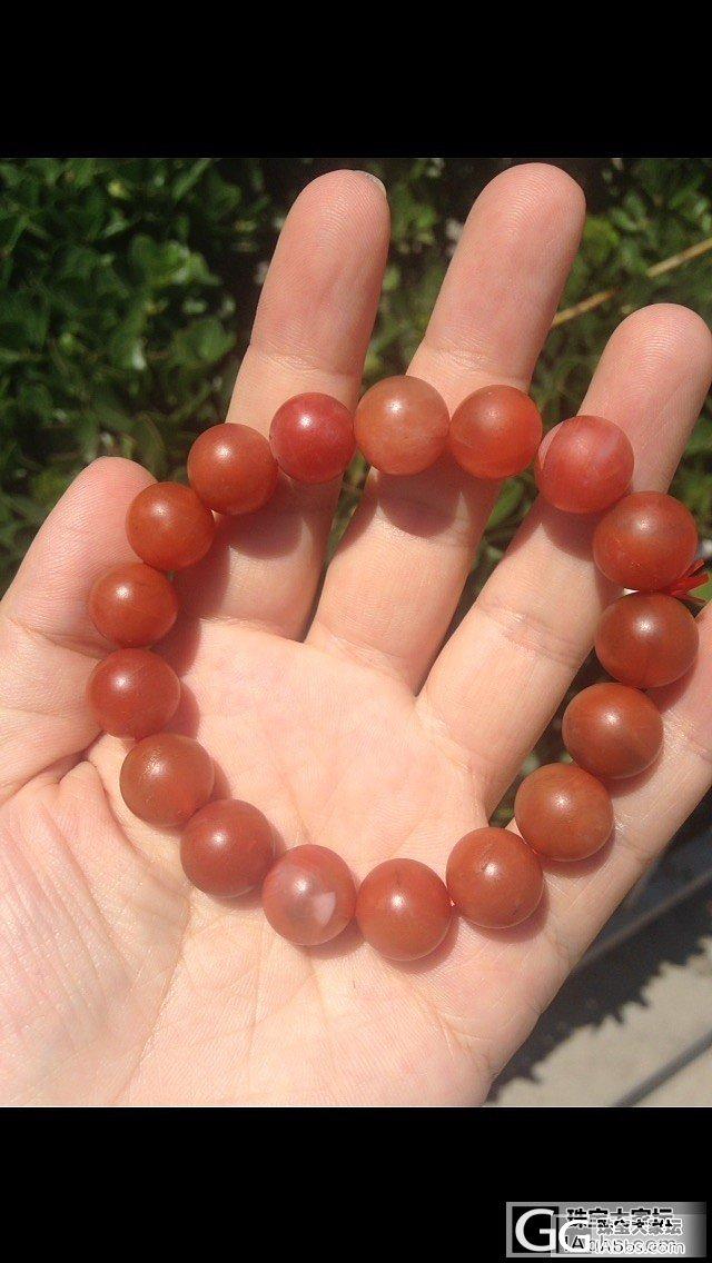 南红手串便宜出了,买手串送桶珠,红红..._珠宝