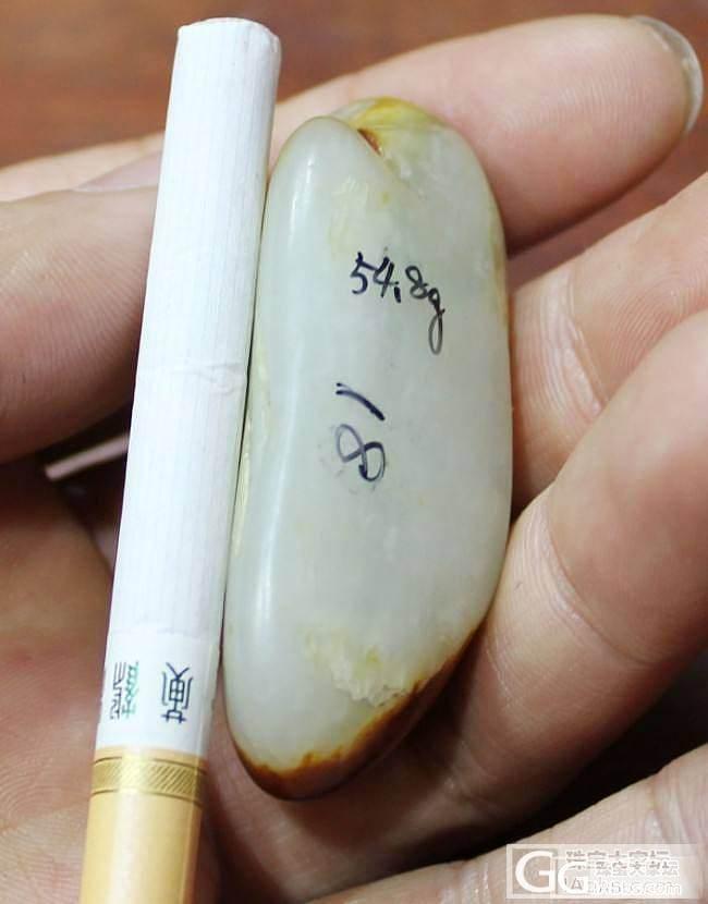 和田白玉【玉友园】54.8克枣红皮带翠_传统玉石