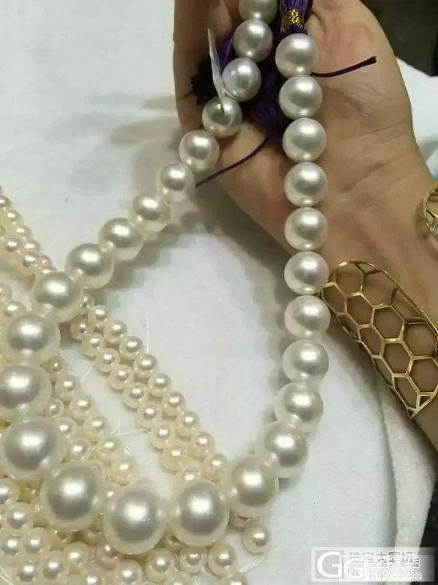 澳大利亚顶级海水白珠项链16万一串_有机宝石