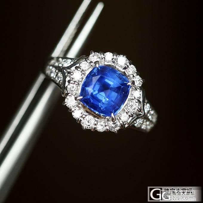 2.52克拉无烧缅甸,GRS给皇家蓝,觉得更靠近矢车菊_蓝宝石戒指刻面宝石