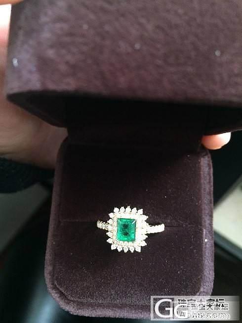 入手第一颗奶奶绿,从购买到出证各种曲折_戒指祖母绿