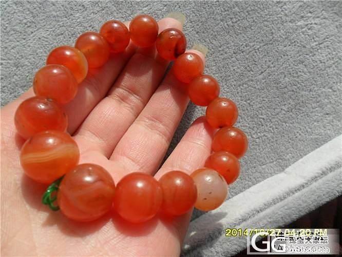 一条颜色很美的樱桃红手链_珠串玛瑙