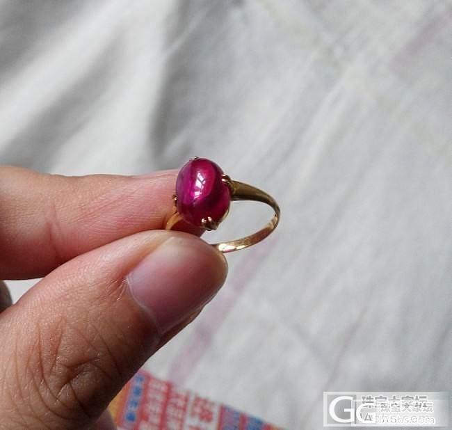 高手给看看这是红宝石吗??_戒指蛋面红宝石