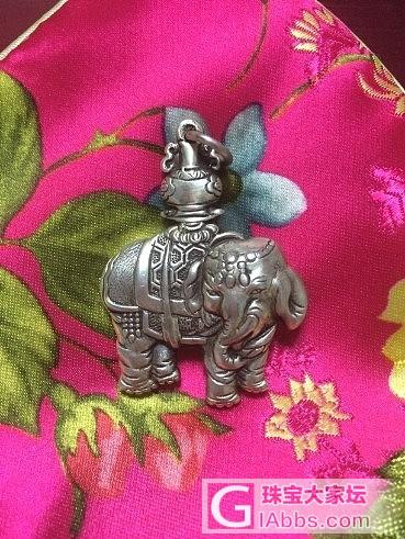 兴昌小象 喜月家银簪 砗磲雕件 海蓝宝 石榴石 粉晶 和田把件_银