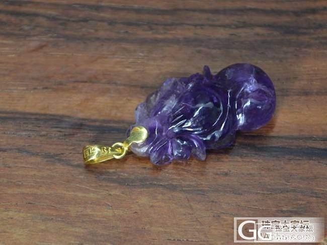 紫水晶【葫芦镶金扣】挂坠 老北京首饰..._宝石
