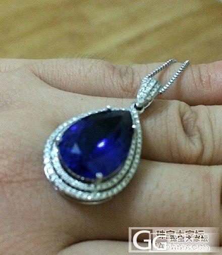 8.7ct水滴,第一次买的坦桑石,大..._坦桑石挂件刻面宝石