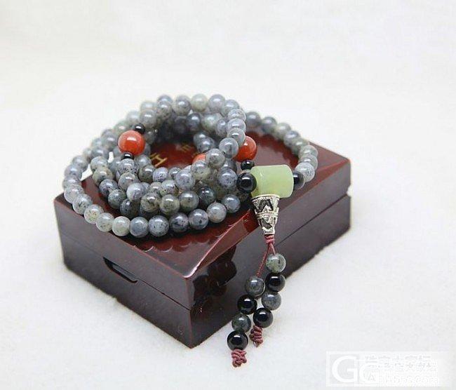 【菜菜和田玉】新疆和田墨玉籽料108佛珠链_传统玉石