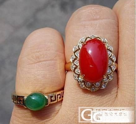 王同学戒指-绽放,甲山镶嵌精工出品,最低价!_有机宝石戒指珊瑚