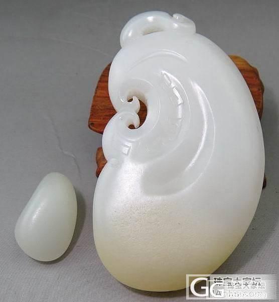 【新疆的猫】新宝贝5.7——典藏级鸭蛋青正妆手镯(一帖多物)_传统玉石