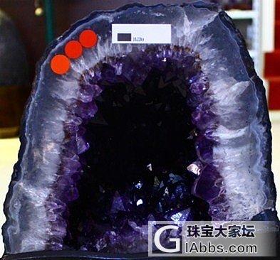 大家看看这款紫晶洞成色怎样?_洞盆簇